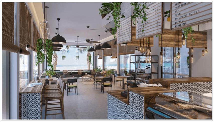 coffee shop design render 2
