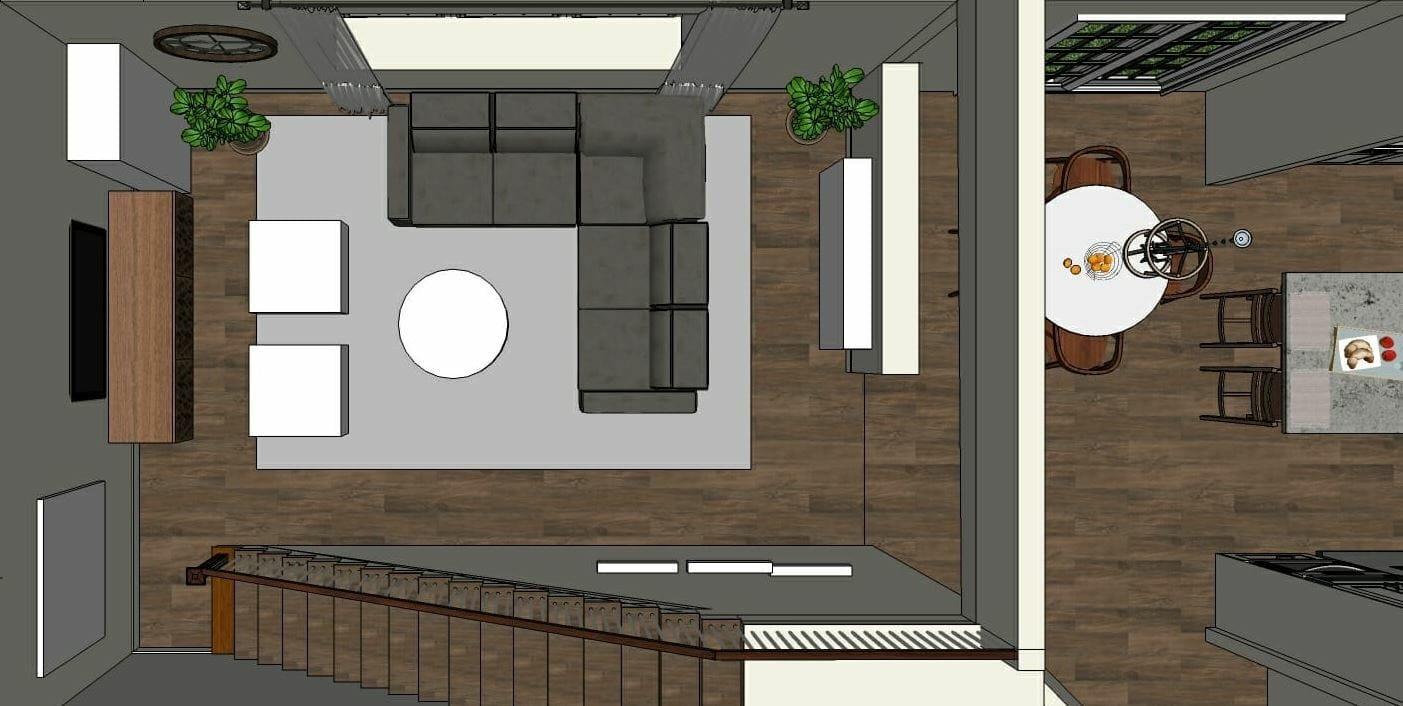 eclectic living room floor plan