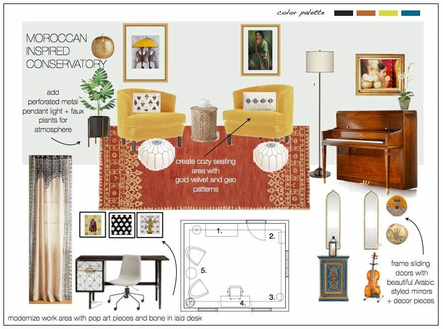 eclectic moodboard design