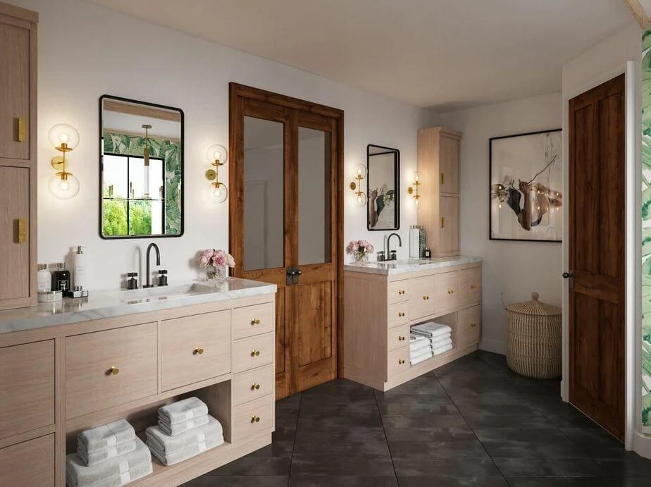modern rustic bathroom design