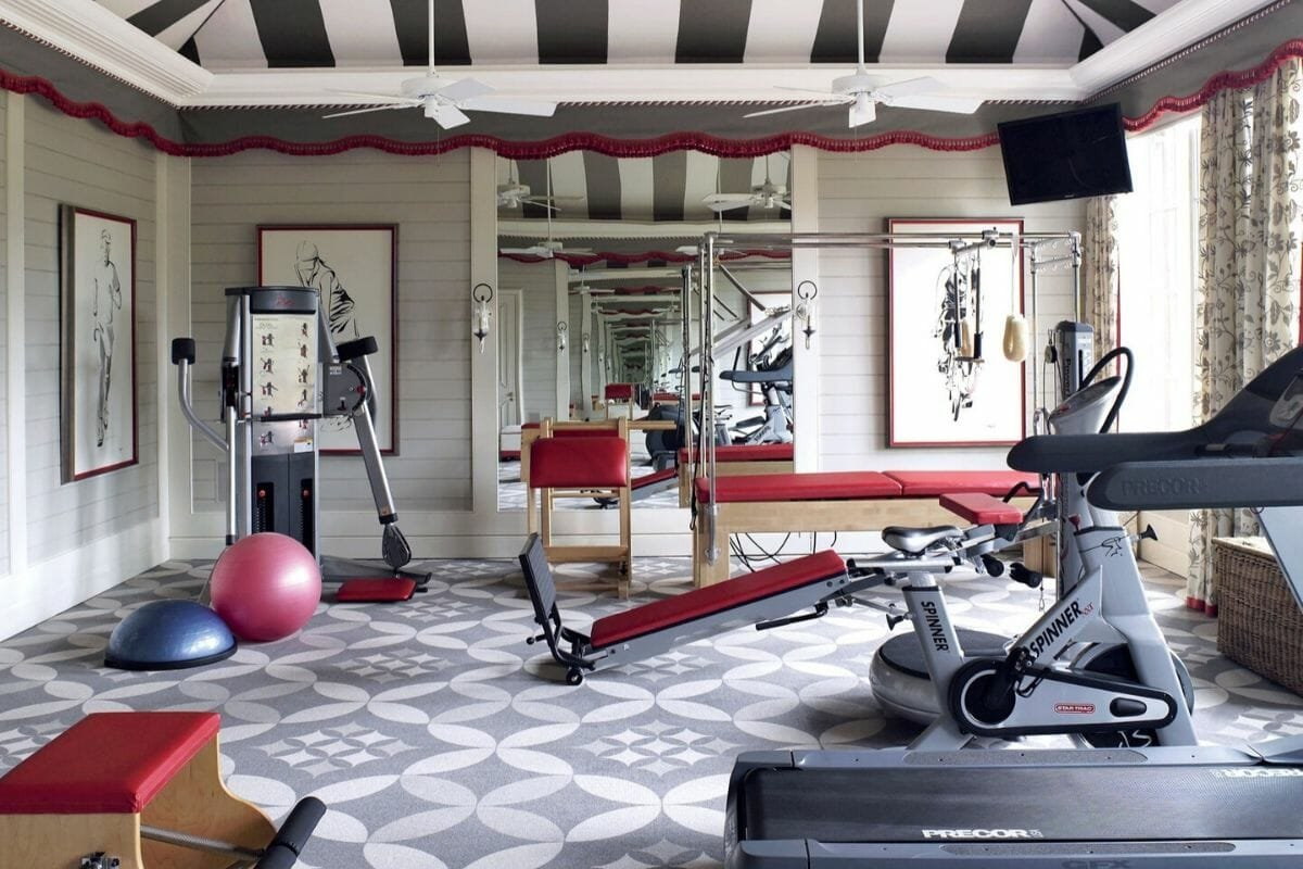 Colorful home gym decor ideas
