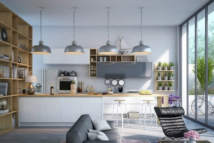 Contemporary kitchen in grey