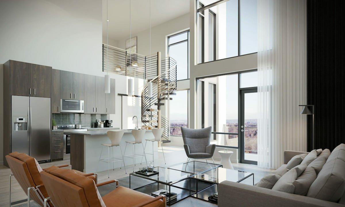 Contemporary loft by interior designer near me Lauren A