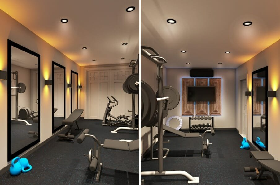 Garage Conversion Home Gym Design Ideas