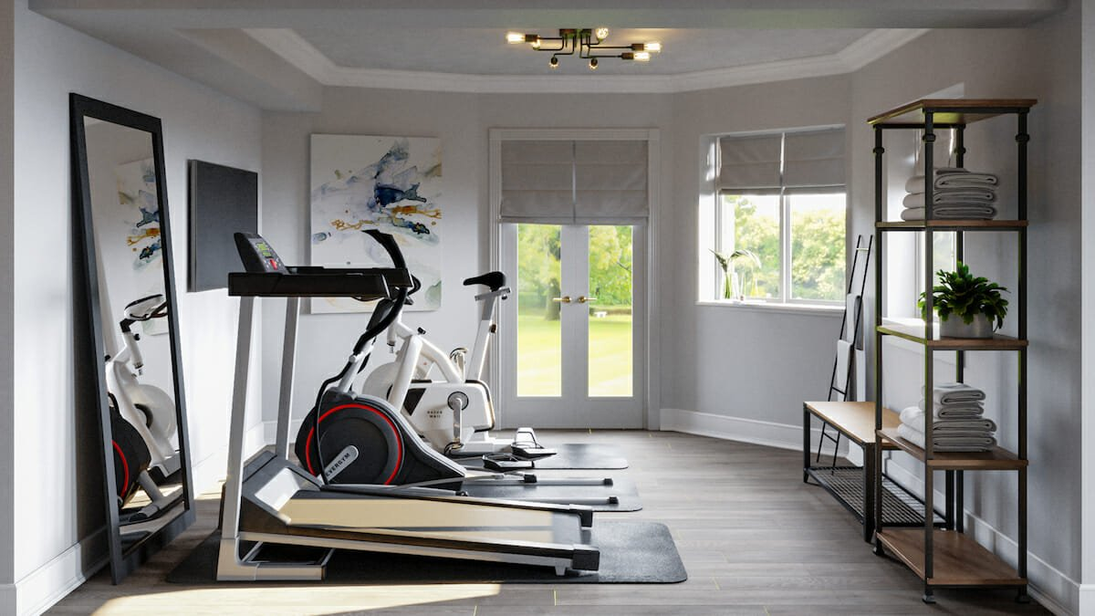 Light and Airy Home Gym Design Ideas