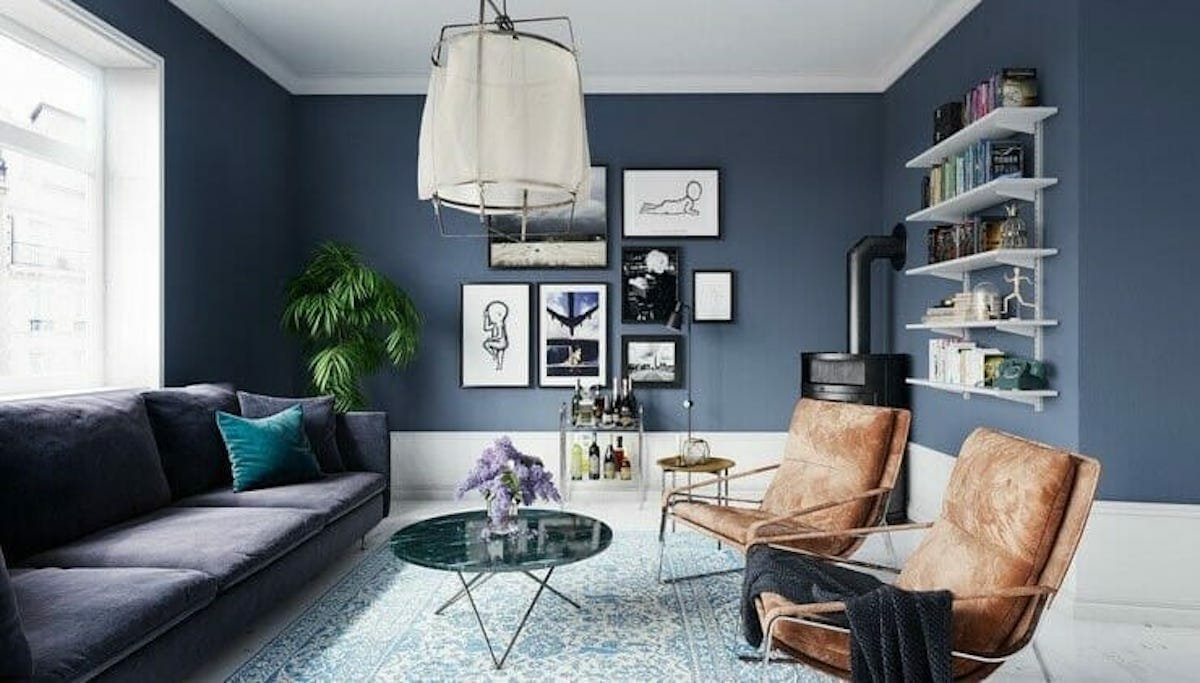 Modern contemporary interior design living area