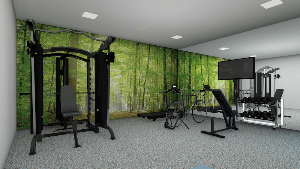 Nature Inspired Home Gym Design Ideas