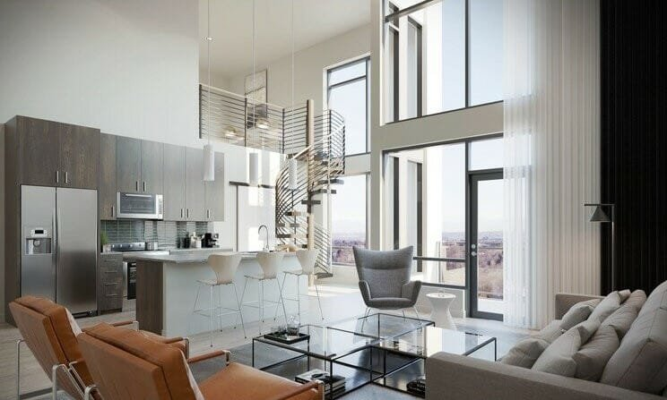 Neutral modern interior style