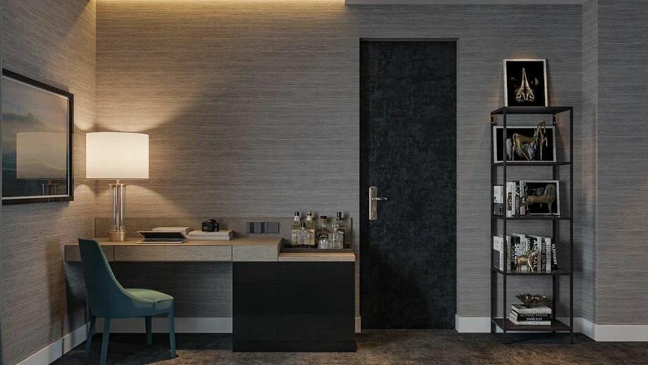 bedroom design online - decorilla 3d rendering