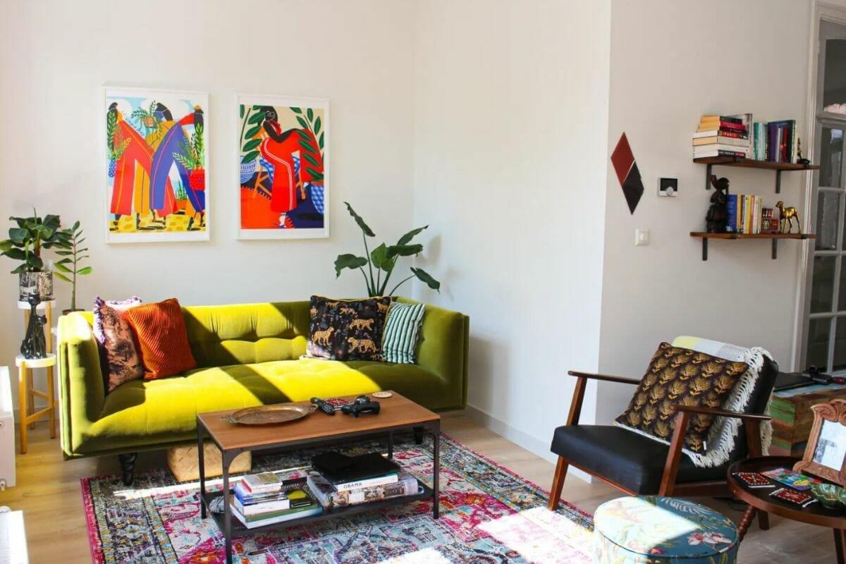 Modern happy interior design