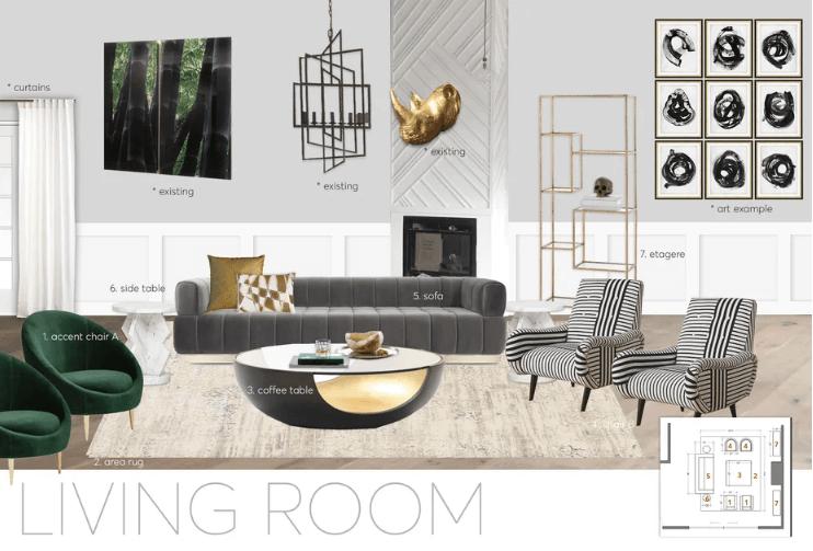 contemporary new home concept board