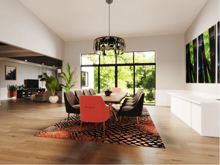 contemporary new home dining room