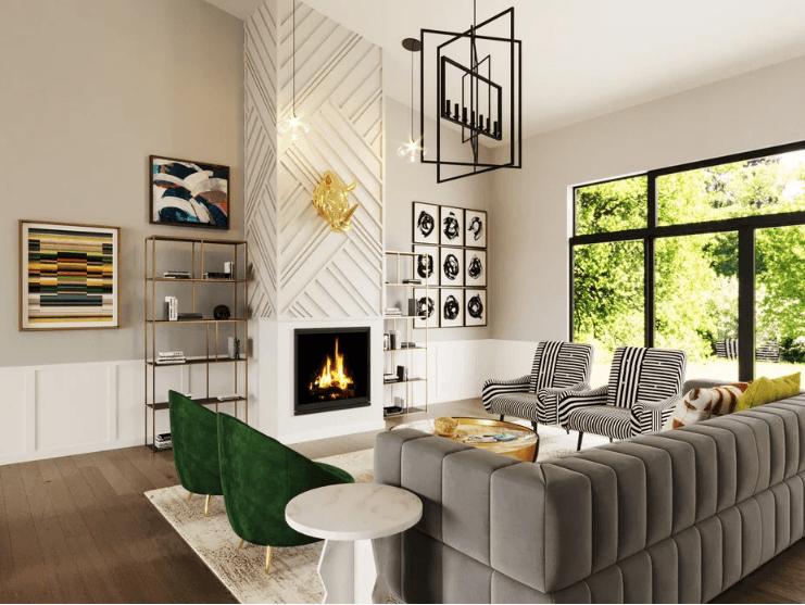 contemporary new home living room 2