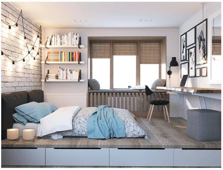 tiny New York Apartment beds