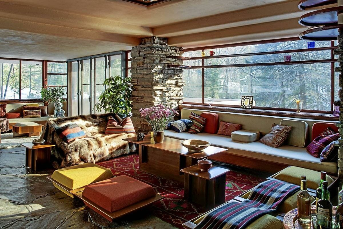 Modern Interior Design by Frank Lloyd Wright