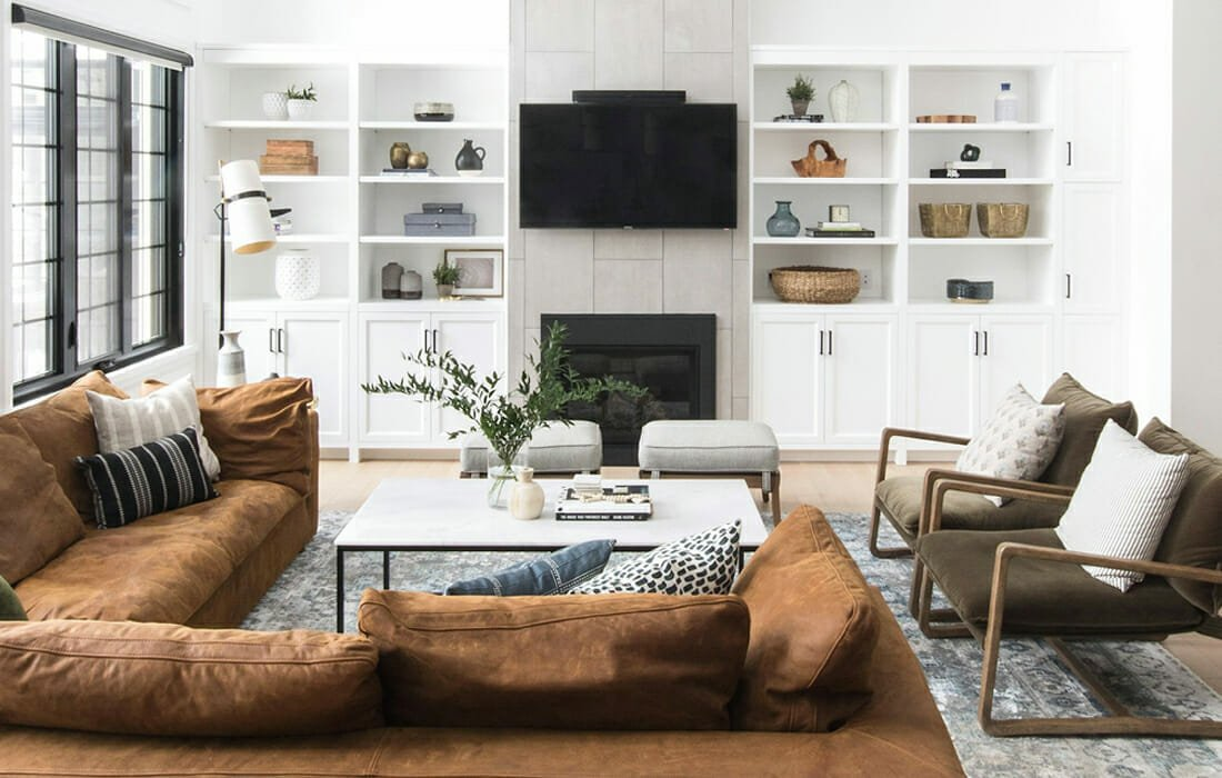 Modern Rustic Home Design Cozy Living Room