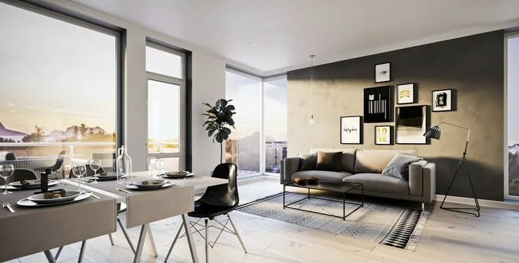 Open plan room layout perfect for family get-togethers