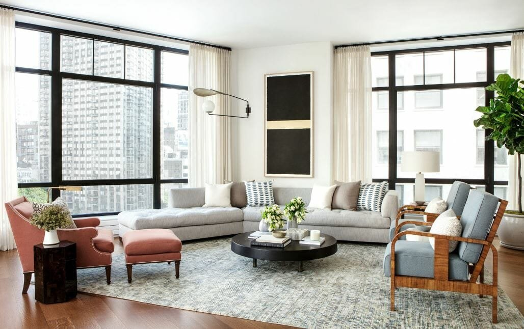 Room layout ideas for a contemporary sophisticated interior