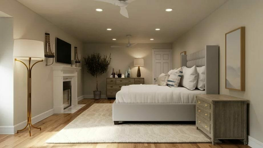 Beautiful zen master bedroom online interior design
