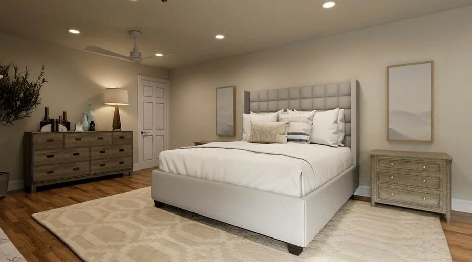 Calming zen master bedroom design