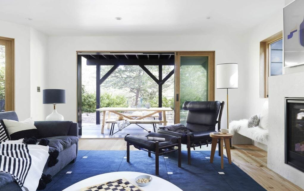 Contemporary family room by interior design stylist near me Emily Henderson