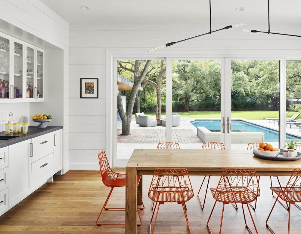 Dining area by one of Austin interior designers Jennifer Greer