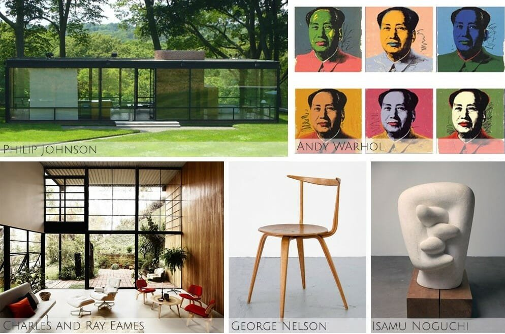 Iconic designers of the mid century modern interior design era