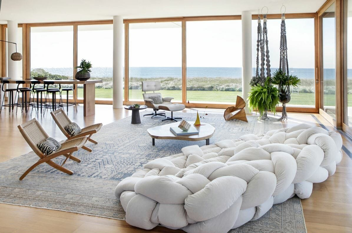 Luxury living room filled with contemporary interior design style by Kelly Behun