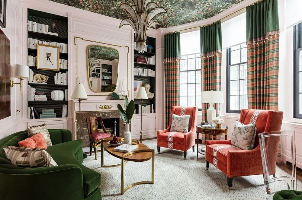 Maximalist lounge by the Corey Damen Jenkins interior design companies