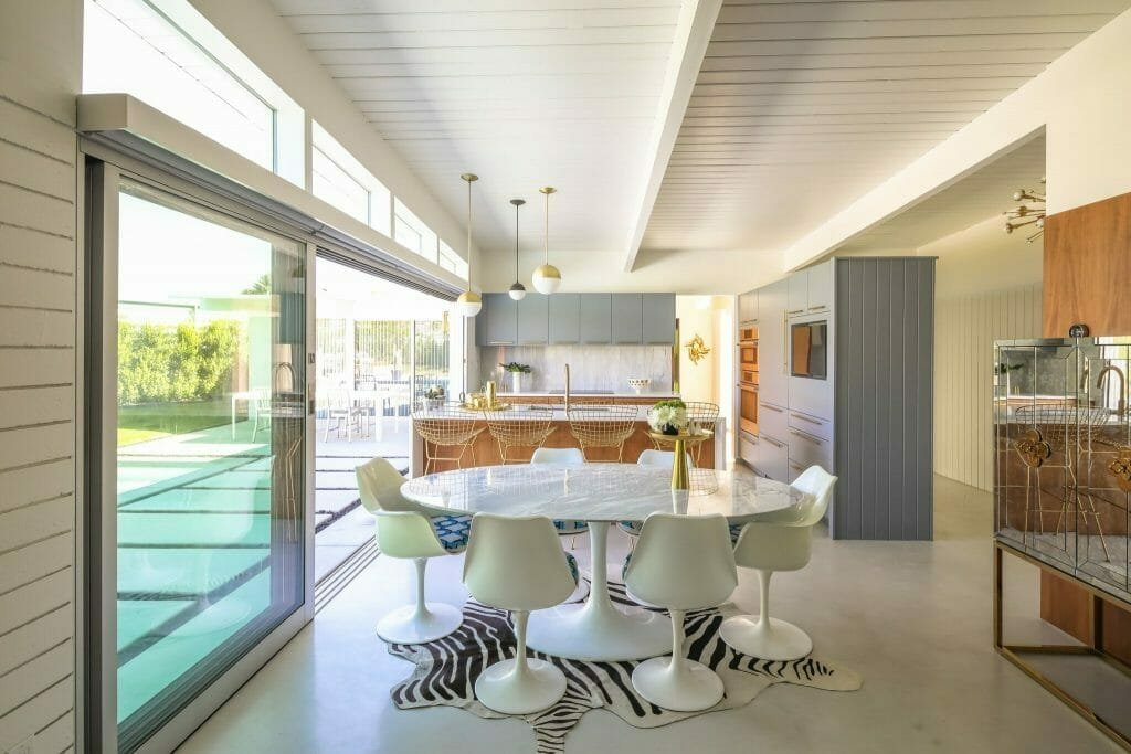 Mid Century Modern House Interior Design with an Open Floorplan