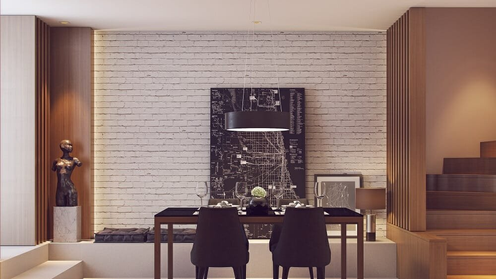 Modern apartment decor in a dining room by Mladen