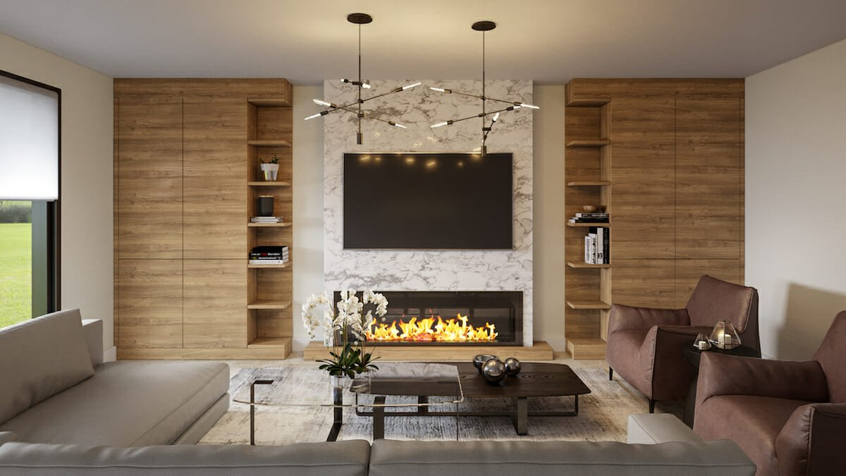 Modern contemporary living room designed by an interior stylist