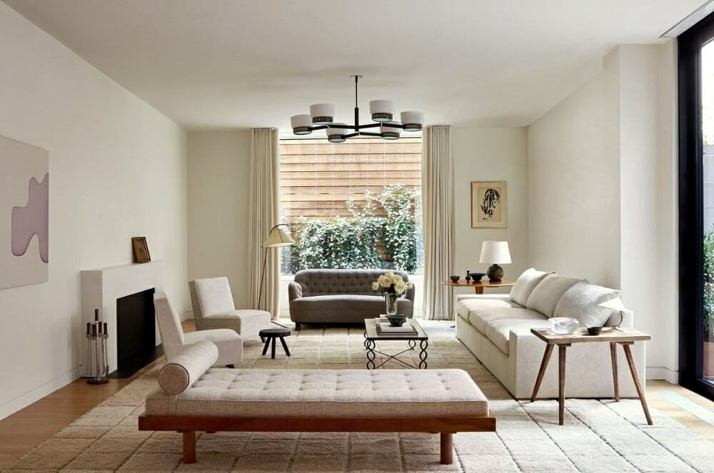 Modern living room by one of the best interior desgin companies Alyssa Kapito Interiors