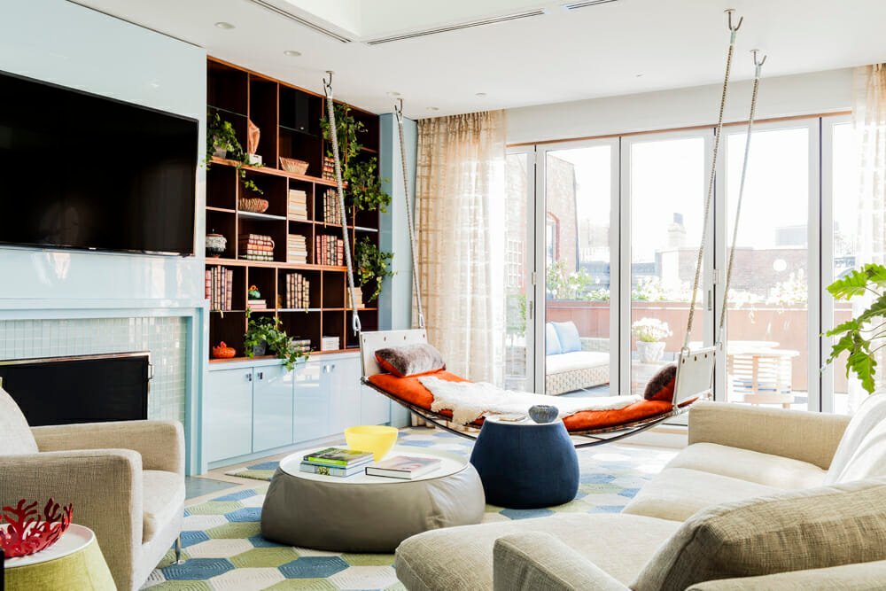 Quirky living room by one of the top residential interior design firms DAquino Monaco Inc.