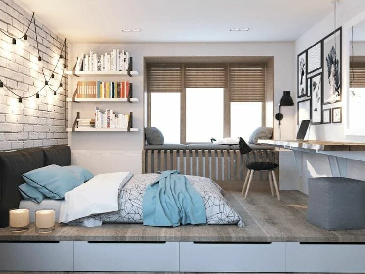 Small bedroom in a condo interior design