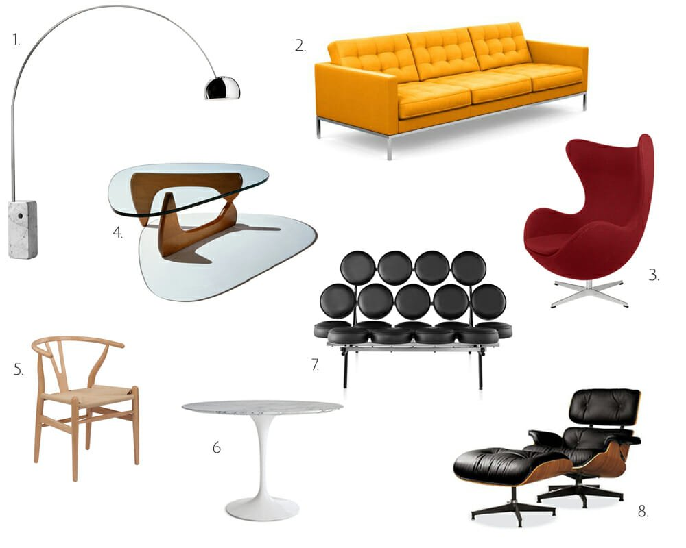 mid-century modern interior design's most iconic furniture