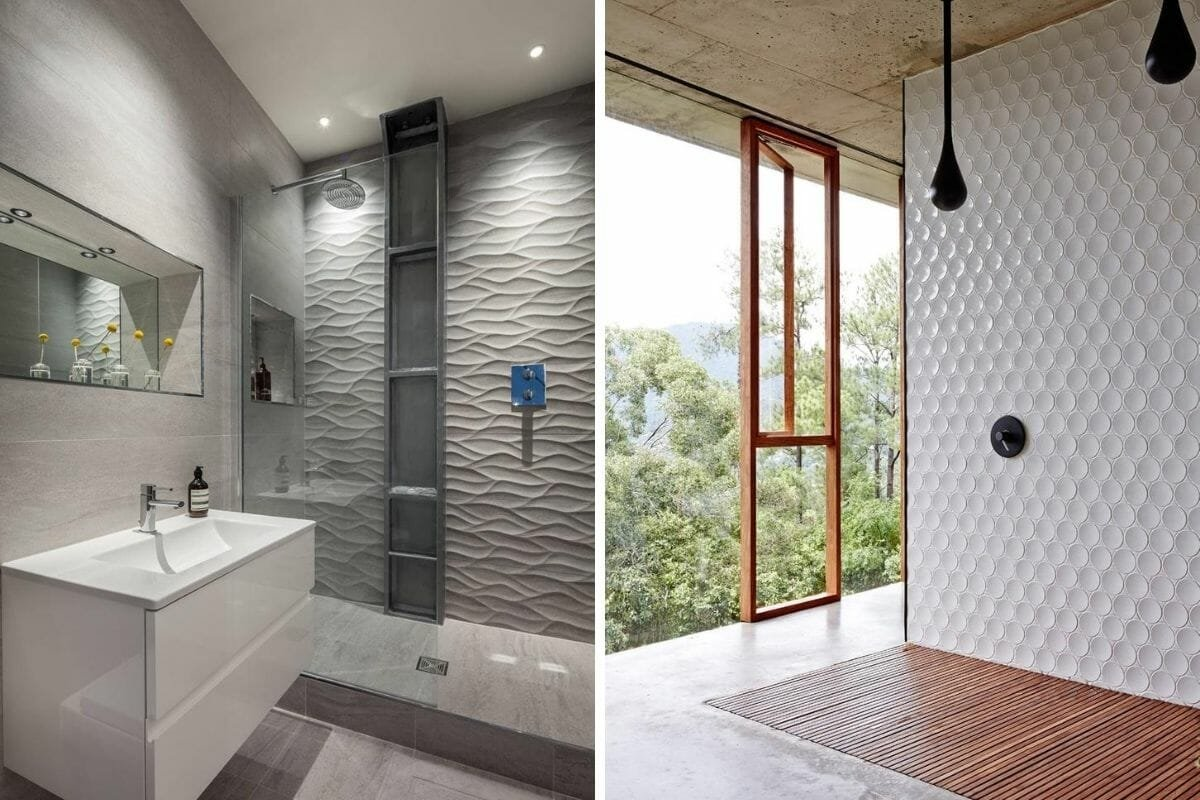 3D Shower tile ideas