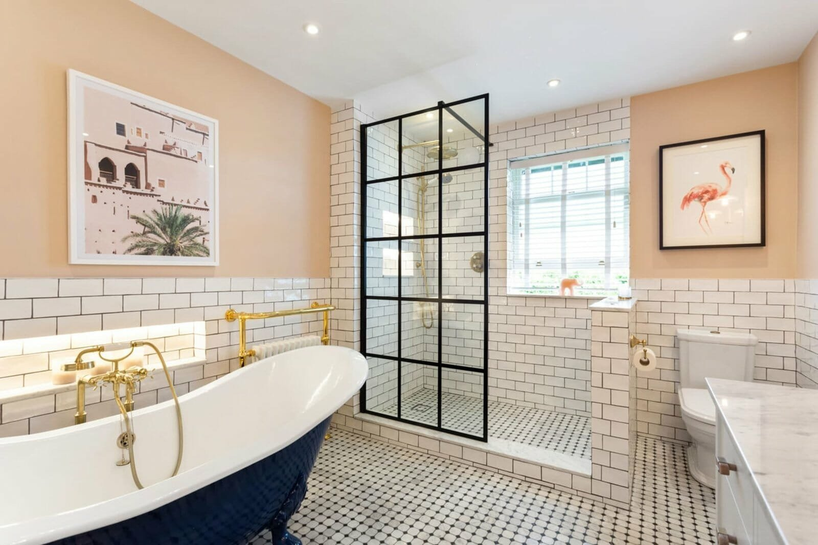 Bathroom tile ideas with a vintage vibe