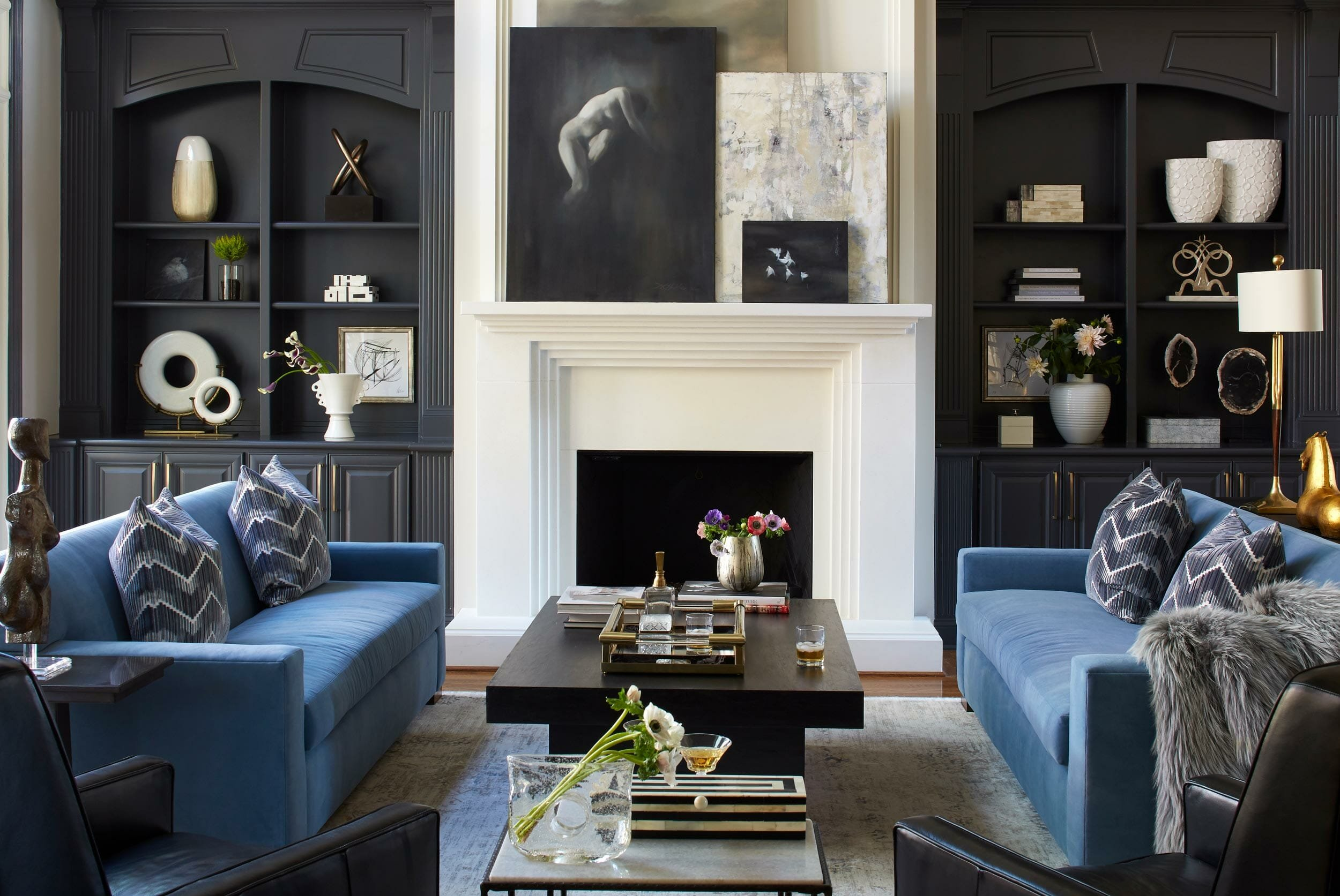 Contemporary living room by top atlanta interior designer Minhnuyet-Hardy-Interiors