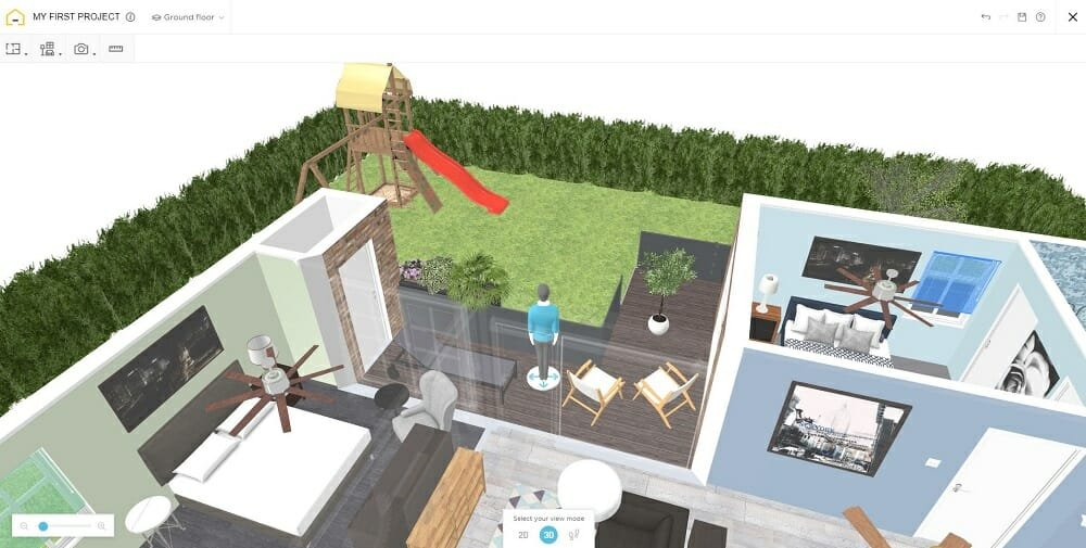 Design your patio online with HomeByMe