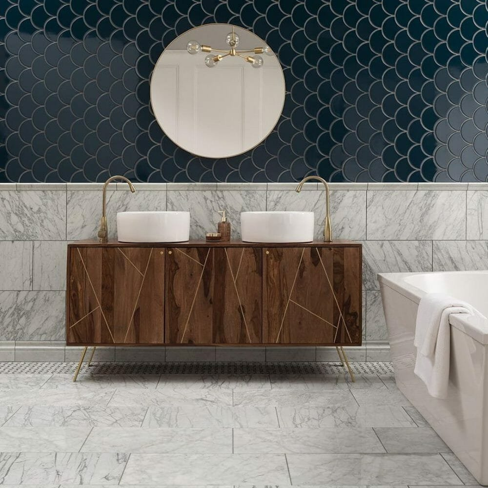 High gloss bathroom tile ideas
