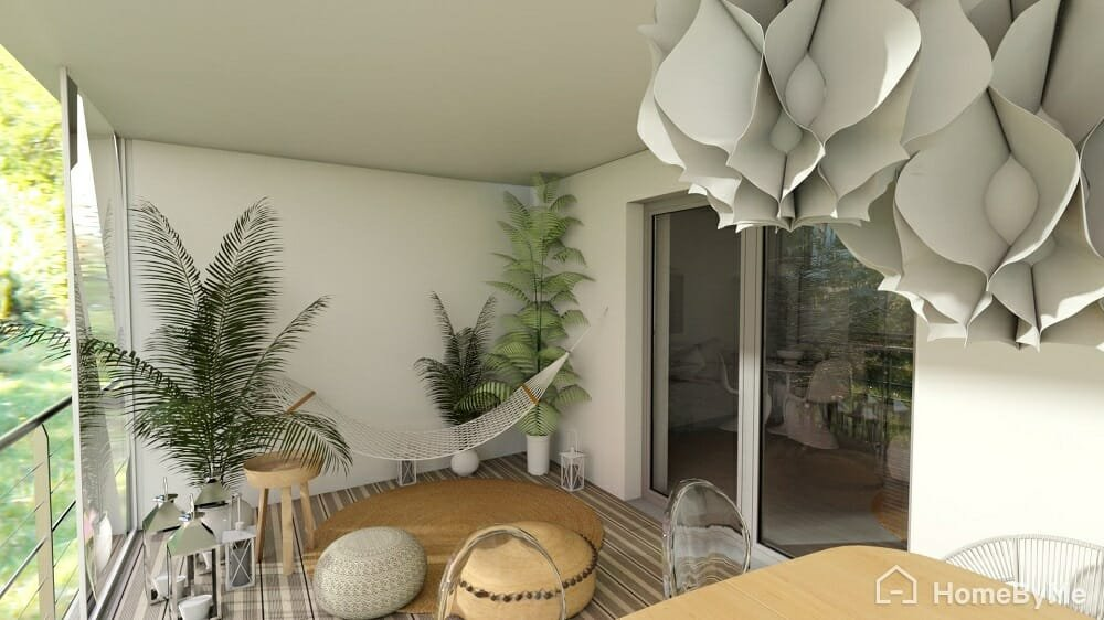 HomebyMe design a patio online natural themed result