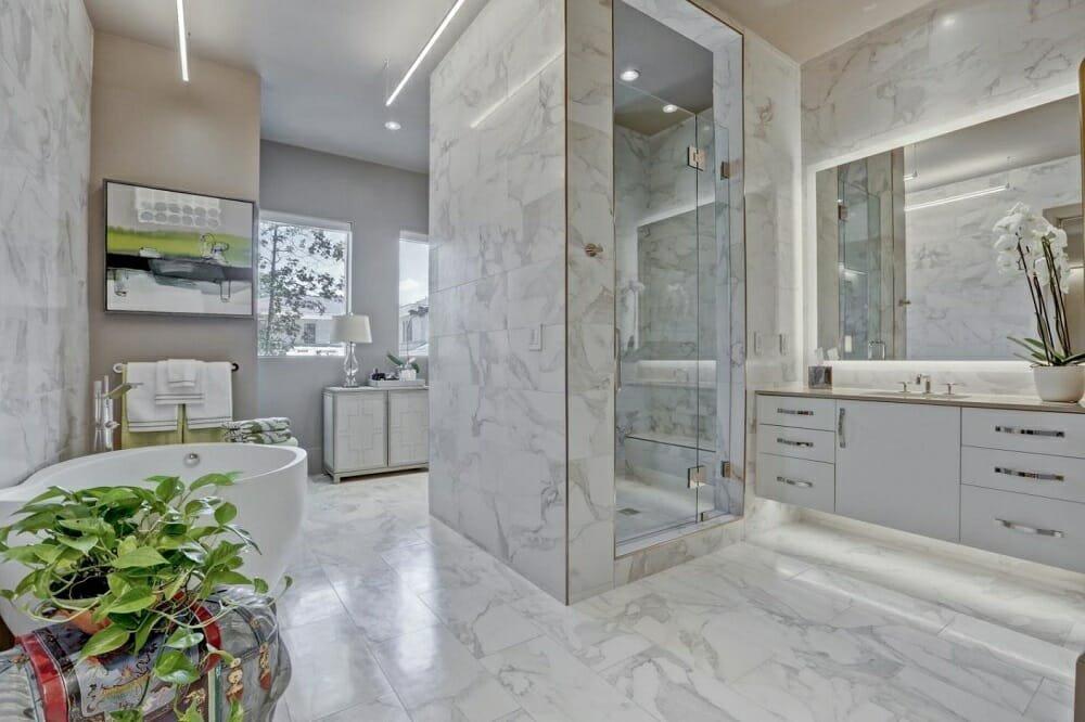 Luxurious bathroom design by one of the top Atlanta interior decorators