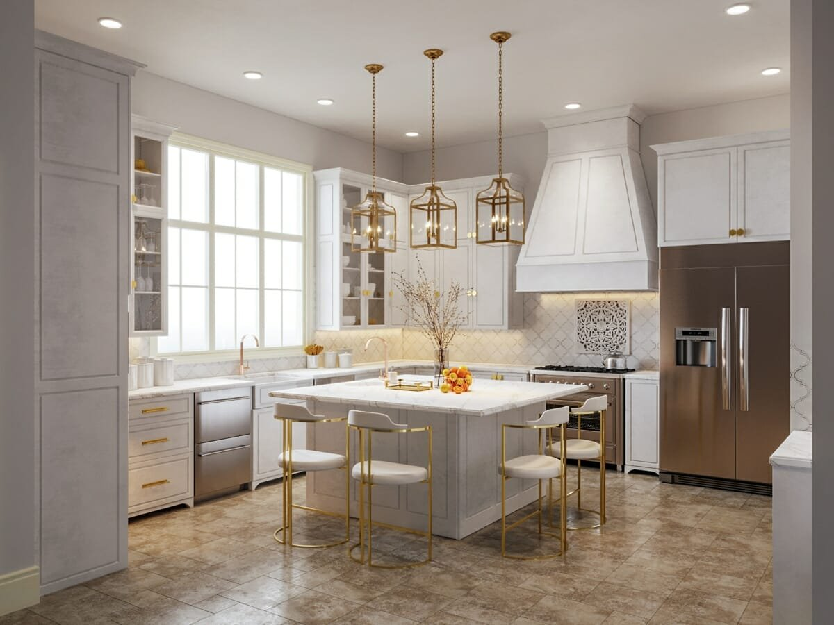 Luxury interior design - a kitchen must inspire, by Decorilla designer Sarah M