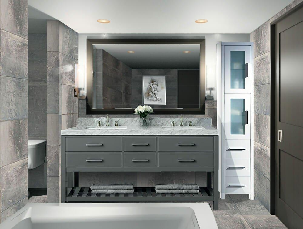 Masterbath design by top Atlanta Interior decorator