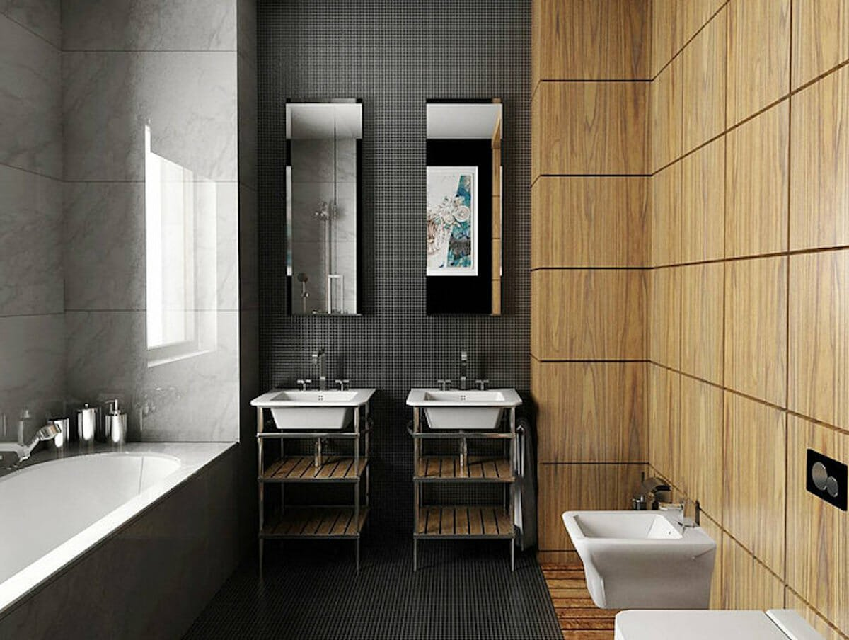 Mix and match bathroom wall tile ideas