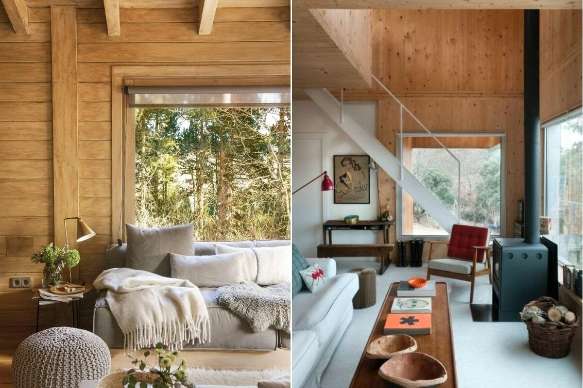 Modern log cabin interior ideas with contemporary finishes