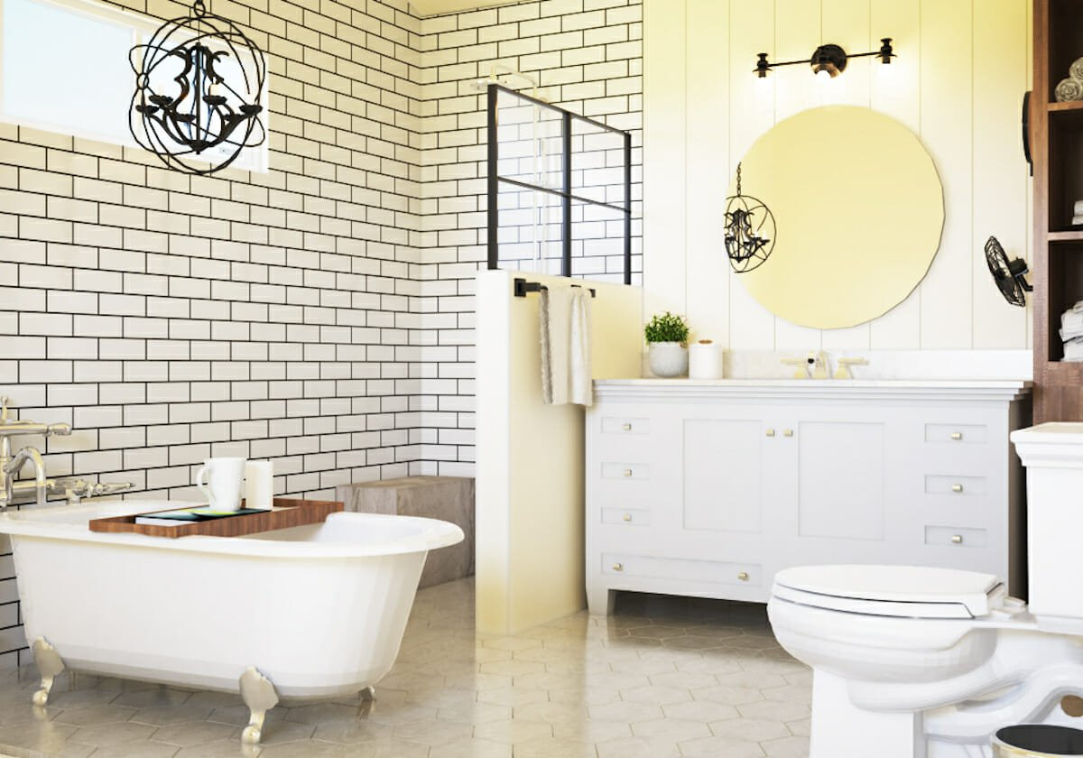 Neutral colored small bathroom tile ideas