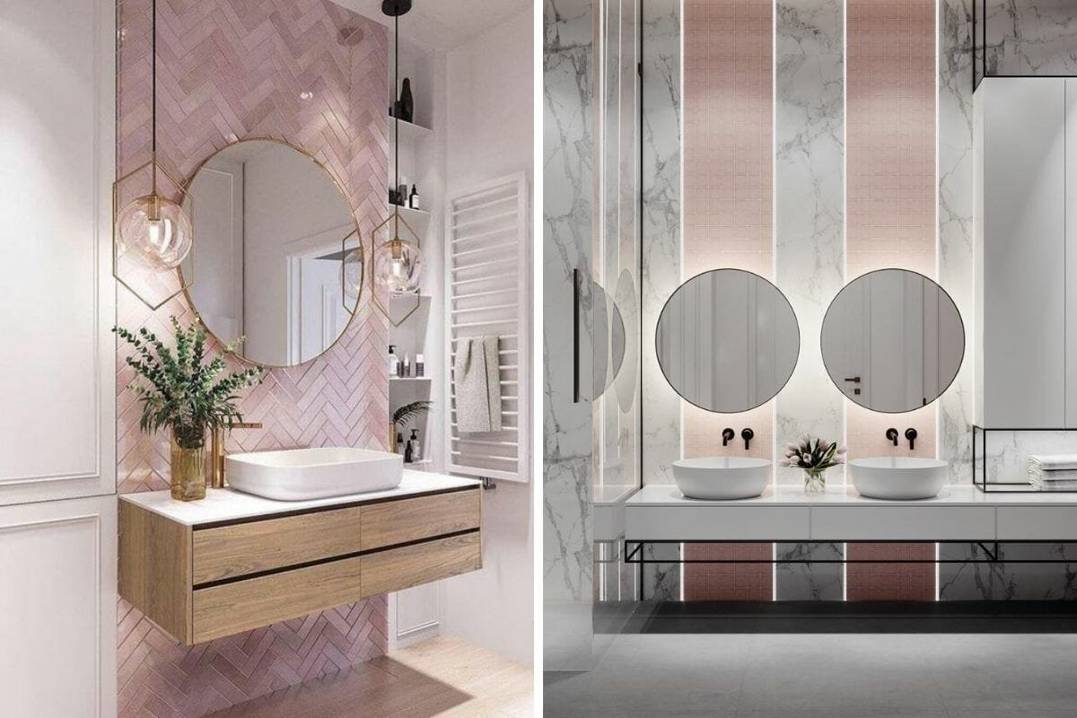 Pretty pink bathroomPretty pink bathroom wall tile ideas wall tile ideas