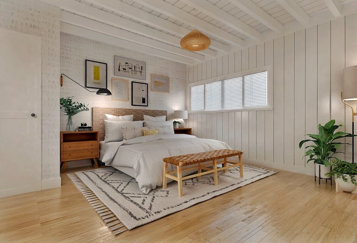 Scandinavian decor in a white and bright bedroom by Ibrahim H